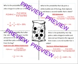 Probability Simple & Compound Events Independent & Dependent Foldable Marbles