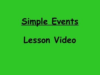 Probability Simple Events Lesson Video