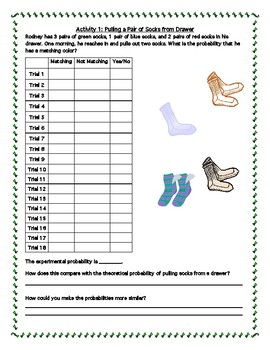 Probability Simulation with Socks