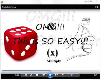 Probability Song & Video for teaching Probability