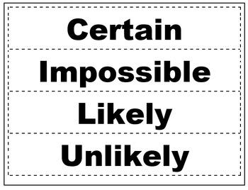 Probability Sorting Activity Grade 1