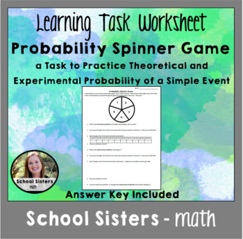 Probability Spinner Game: Theoretical vs Experimental Probability