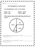 Probability Spinner Worksheet