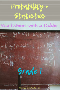 Probability + Statistics Riddle Activity | Assessment