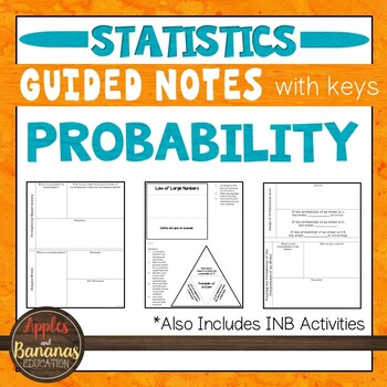 Probability - Interactive Notebook Activities & Scaffolded Notes