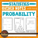 Probability - Interactive Notebook Activities & Guided Notes