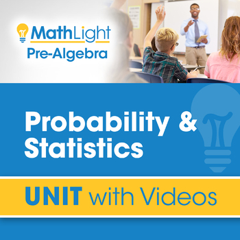 Probability & Statistics | Unit with Videos | Good for Distance Learning