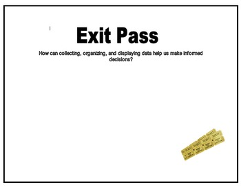 Probability & Statistics: Pre-assessment and Exit Pass