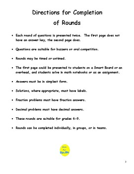 Probability & Statistics Short Rounds