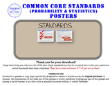 Probability & Statistics Standards Posters (California)