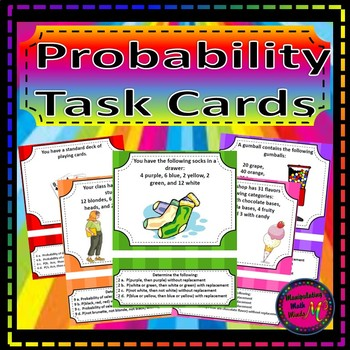Probability Task Card Set - Great unit or STAAR Review