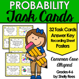 Probability Task Cards and Poster Set - Probability Activities