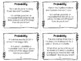 Probability Task Cards - Can Use for Probability Scoot