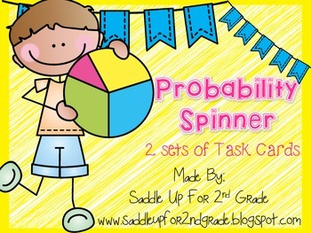 Probability Task Cards: 2 Sets of Bright Colored Fun