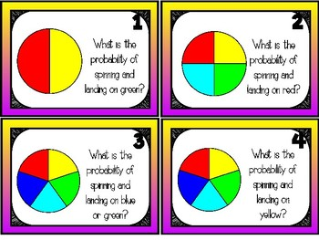 Probability Task Cards {{Differentiated}}