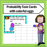 #easterbunny Probability Task Cards with Colorful Eggs