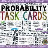Probability Task Cards Math Review