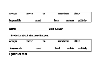 Probability Tasks (Certain, Likely, Unlikely, Impossible)
