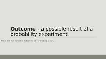 Probability Terms