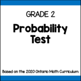 Probability Test for Grade 2 (Ontario Curriculum)