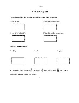 Probability Test with Key