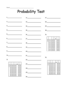 Probability Test with Reviews