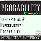 Probability Theoretical Experimental Geometric Color Coded Interactive Notebook