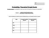 Probability:  Theoretical Simple Events