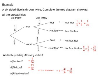 probability tree diagrams by s j cooper teachers pay teachers. Black Bedroom Furniture Sets. Home Design Ideas