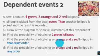 Probability - Tree Diagrams for independent and dependent events