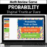 Probability Truth or Dare Math Game for Google Classroom|Slides