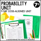 7th Grade Math Probability Unit: 7.SP.5, 7.SP.6, 7.SP.7, 7.SP.8