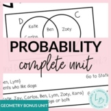 Probability Unit Growing Bundle- with Editable Test!!