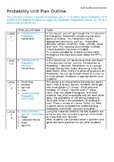 Probability Unit Plan - Outline and Worksheets