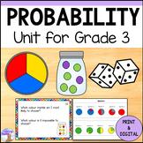 Probability Unit for Grade 3 (Ontario Curriculum)