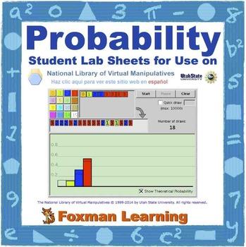 Probability -- Virtual Manipulatives Lab for Middle School