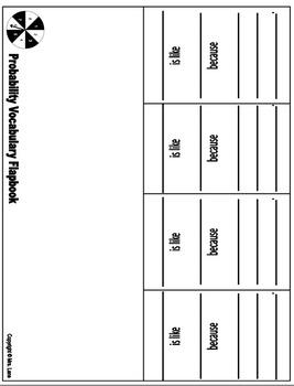 Probability Vocabulary Flapbooks