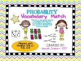 Probability Vocabulary Match