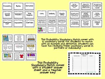 Probability Vocabulary Match