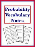 Probability Vocabulary Notes