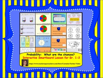 Probability:  What are the chances?  Interactive Smartboard Lesson Gr. 1-2