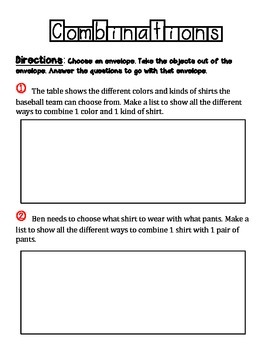 probability what combinations can you make by novateacher tpt. Black Bedroom Furniture Sets. Home Design Ideas