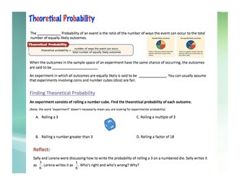 Probability Workbook Middle Grades 20 pages