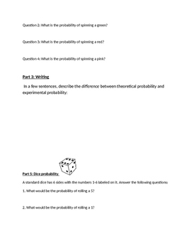 probability worksheet 1 simple events by preston phillips math store. Black Bedroom Furniture Sets. Home Design Ideas