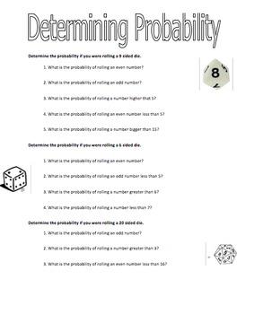 Probability Worksheets