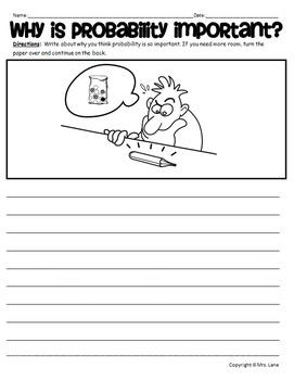 Probability Writing Prompt Worksheets