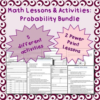 Probability activities, lessons, and project
