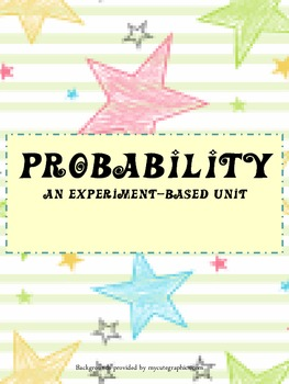 Probability - an experiment based unit