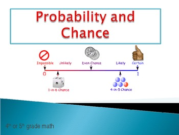 Probability and Chance Powerpoint using candy, dice, spinners and more