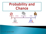 Probability and Chance Powerpoint using candy, dice, spinn